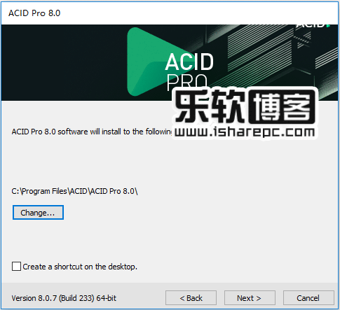 MAGIX ACID Pro 8.0.7安装