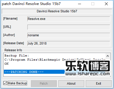 Design DaVinci Resolve Studio 15.0b7 破解