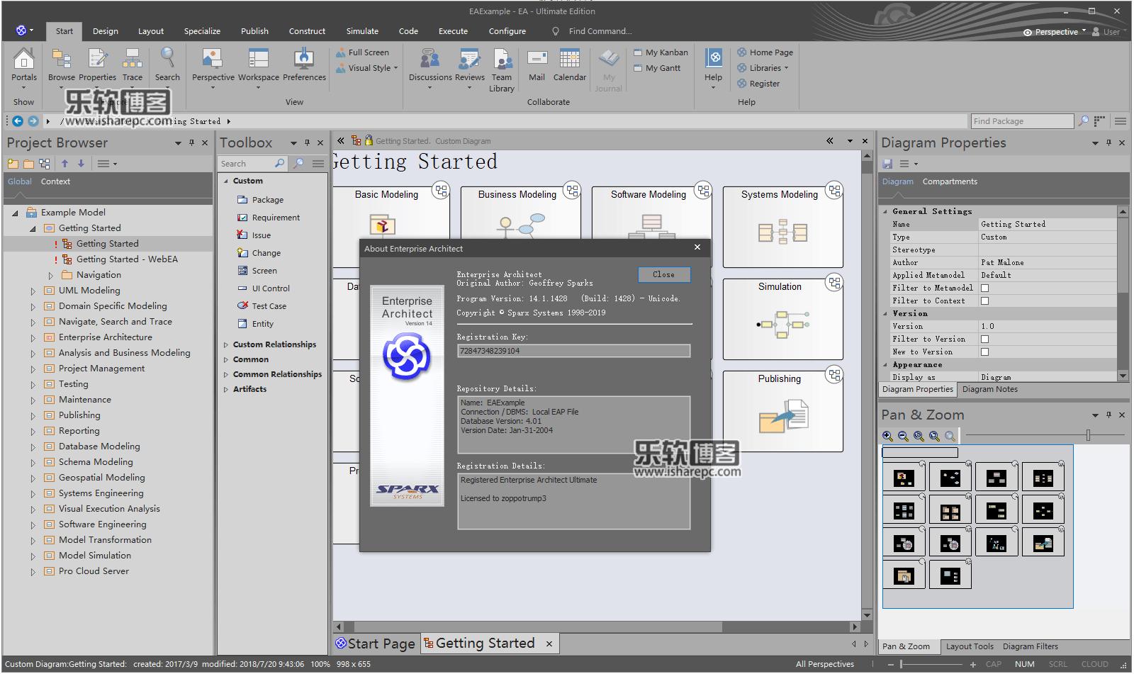 Sparx Systems Enterprise Architect 14.1破解版