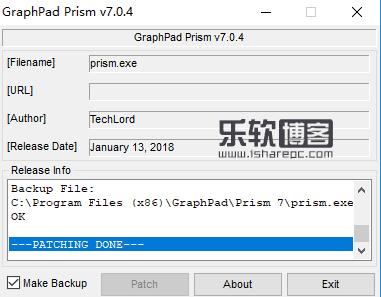 GraphPad Prism 7.04破解补丁