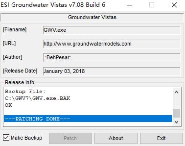 ESI Groundwater Vistas Premium keygen