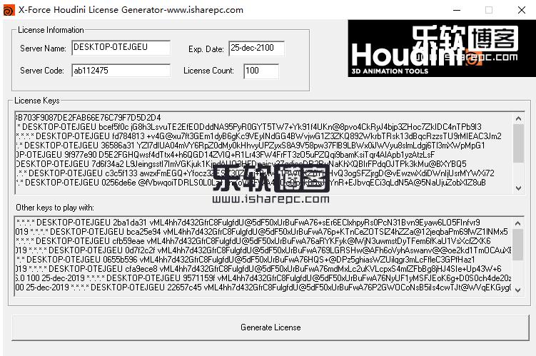 SideFX Houdini FX 17破解注册机