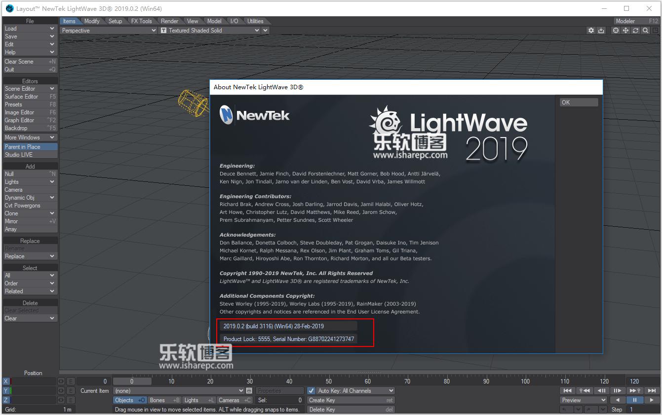 NewTek LightWave 3D 2019.0.2破解版