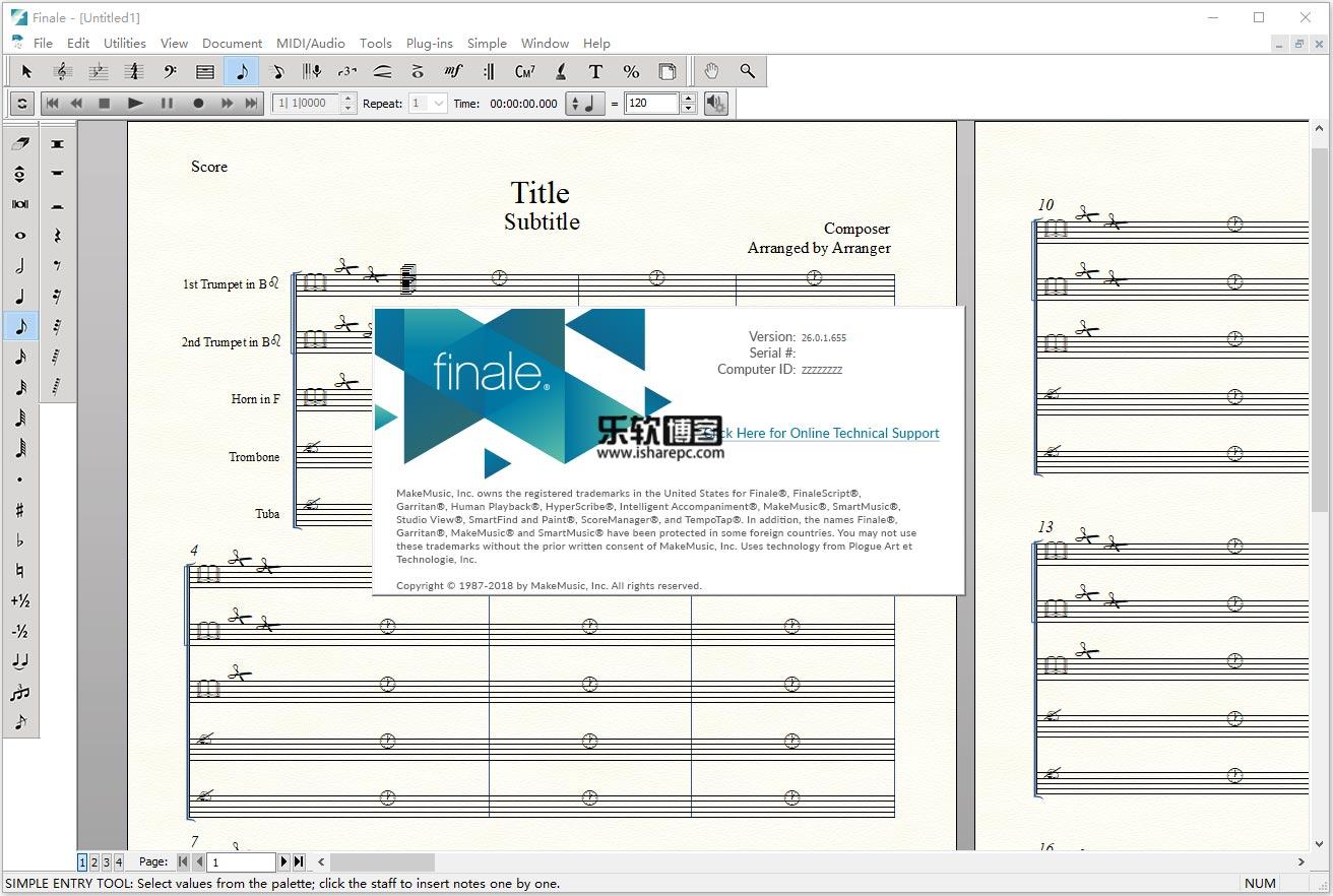 MakeMusic Finale 26.0破解版