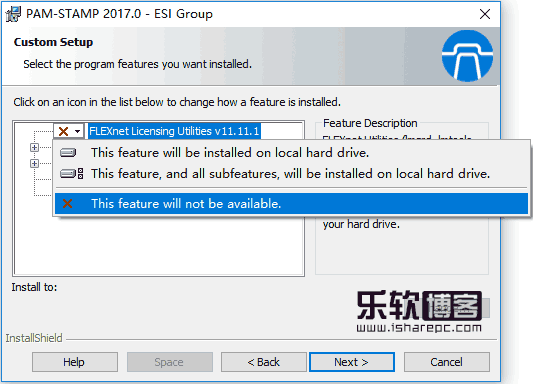 ESI PAM-STAMP 2017.0安装