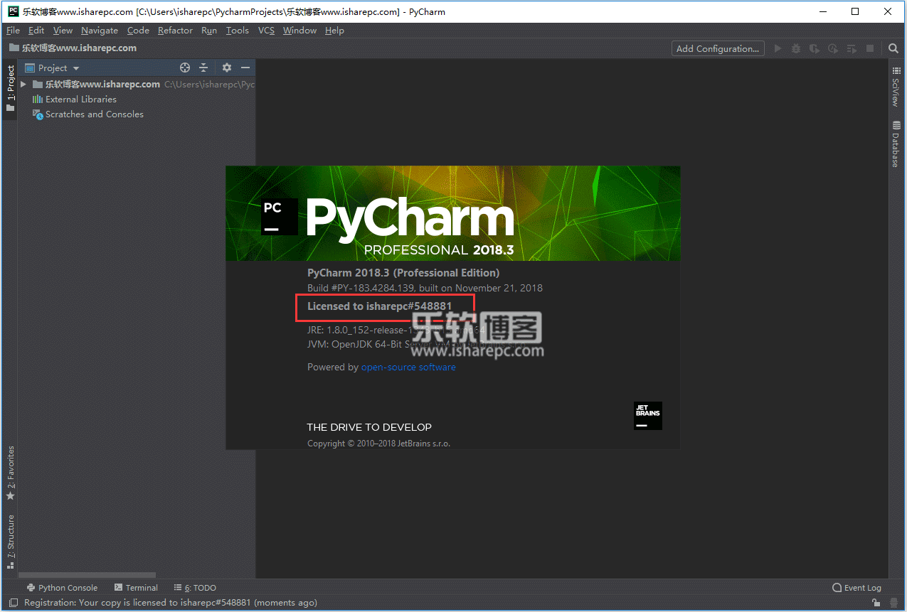 JetBrains PyCharm Professional 2018.3破解版