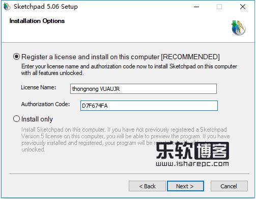 Sketchpad5.06安装