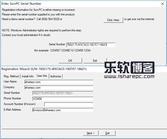 Carlson SurvPC 5.03序列号