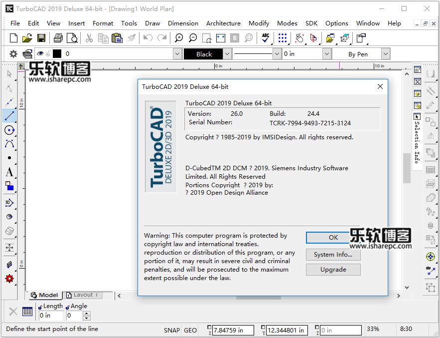 IMSI TurboCAD Deluxe 2019破解版
