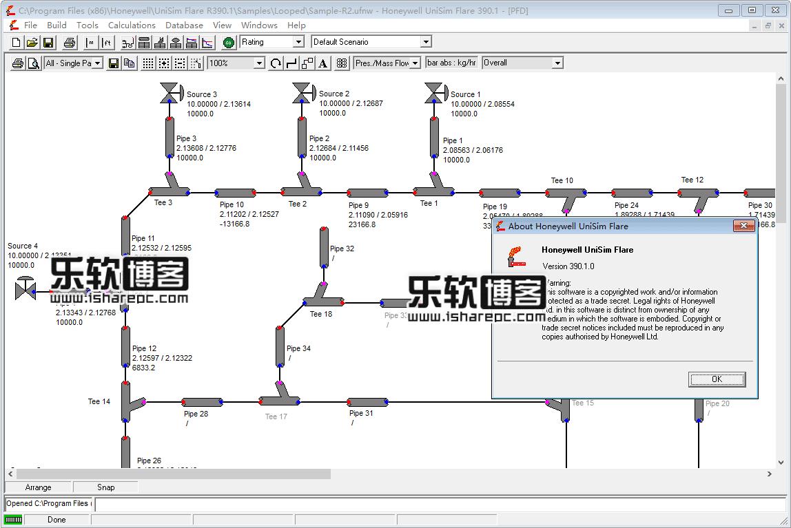 UniSim Flare R390.1