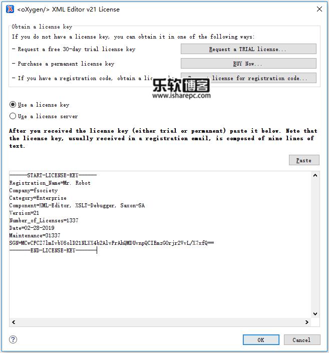 Oxygen XML Editor 21.0激活码