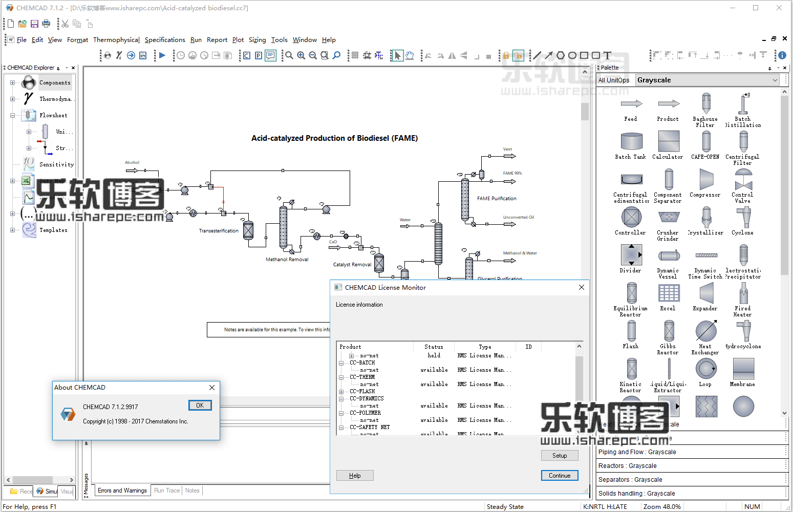 Chemstations CHEMCAD Suite v7.1.2.9917破解版
