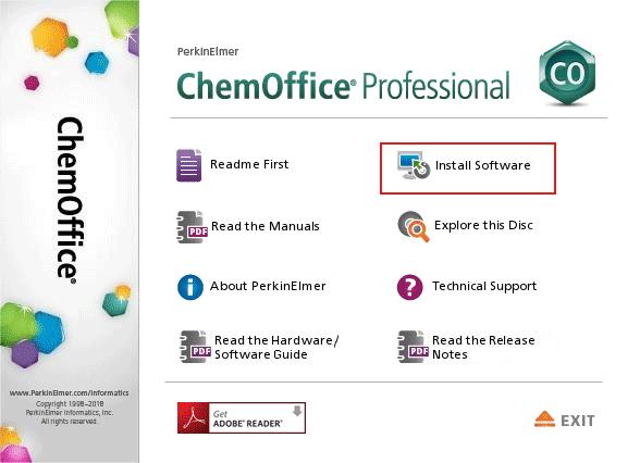 ChemOffice Professional 17.1安装