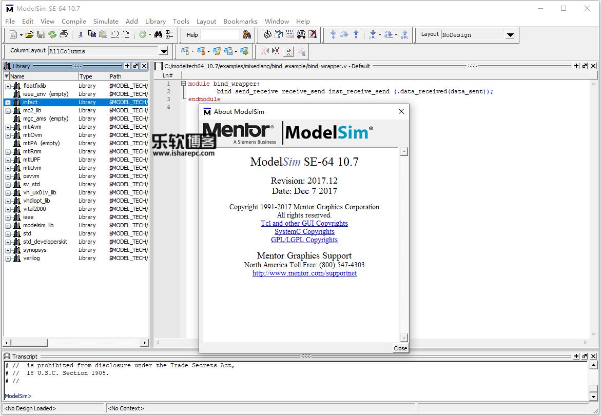 Mentor Graphics ModelSim SE 10.7破解版