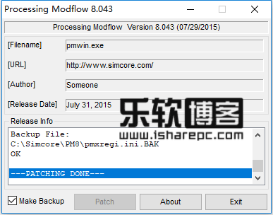 Simcore Processing Modflow v8.0.44破解补丁工具